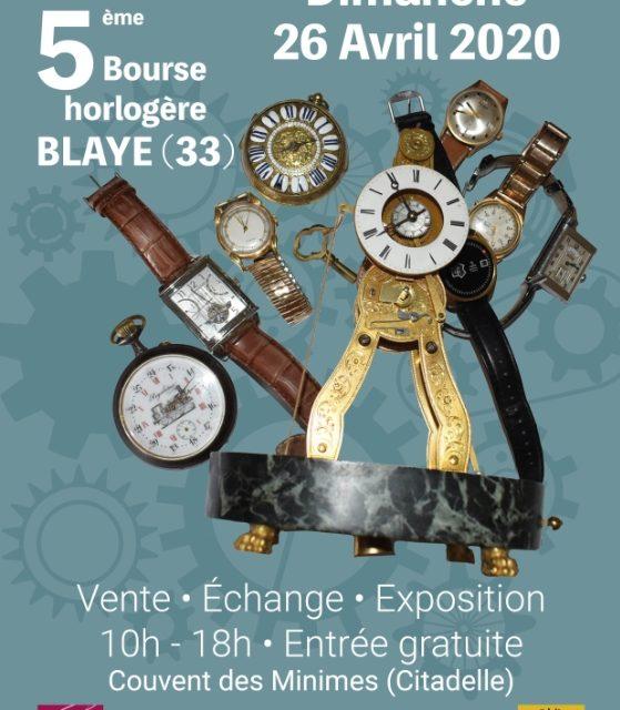 La section horlogerie du lycée sera présente à la bourse horlogère de Blaye le dimanche 26 avril 2020